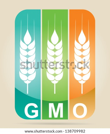 Genetically modifies plants - agricultural concept - stock vector