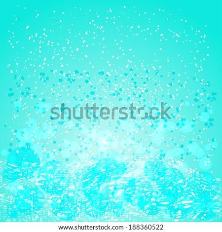 gentle blue light background - stock vector