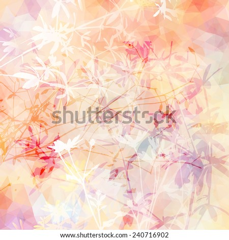 gentle floral abstract background - stock vector