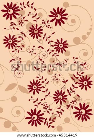 Gentle folk pattern - stock vector