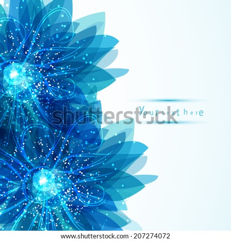 gentle frame with blue flowers. Template for your design - stock vector