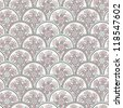 Gentle  pastel vintage seamless pattern with circles (vector) - stock vector