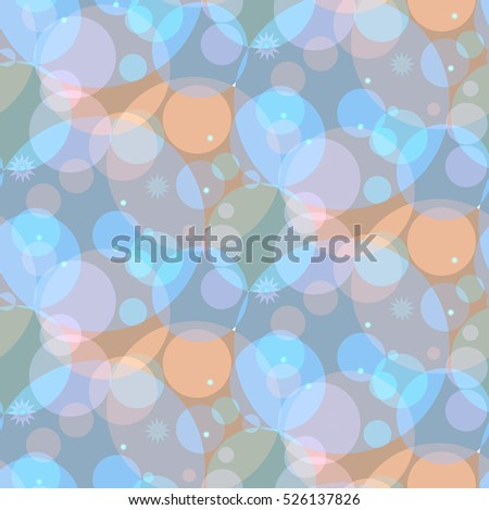 gentle simple pattern with blue circles