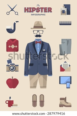 Gentleman kit - stock vector