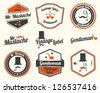 Gentlemen's Accessories Labels with retro vintage design - stock photo
