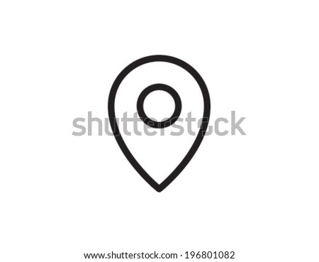 Geo Tag Position Location Outline Icon Symbol - stock vector