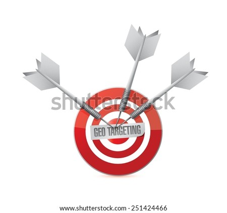 geo targeting target illustration design over a white background - stock vector