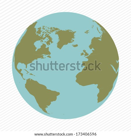 geographic design over white  background vector illustration - stock vector