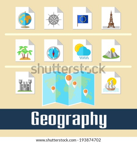 Geography - stock vector