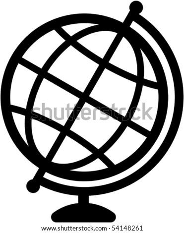 Geography earth globe icon - vector illustration - stock vector