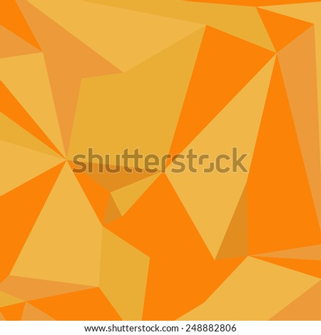 Geometric Abstract Background. Triangles. Yellow- orange. Vector - stock vector