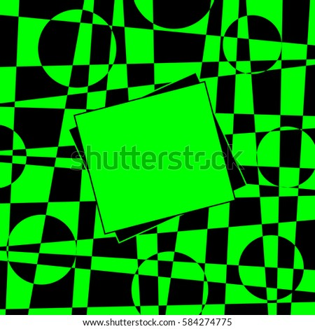 Geometric Abstract Background Optical Illusion Black Stock Vector ...
