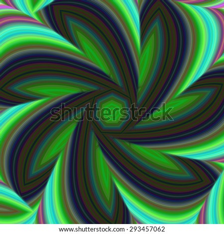 Geometric abstract fractal design background - stock vector