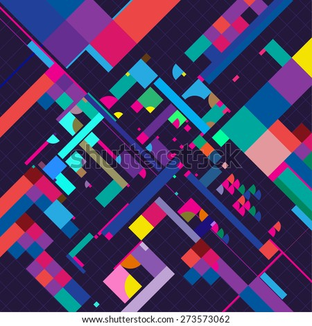 geometric abstract pattern. Colorful vector background - stock vector