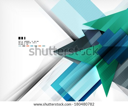 Geometric abstraction business poster. For banners, business backgrounds, presentations - stock vector