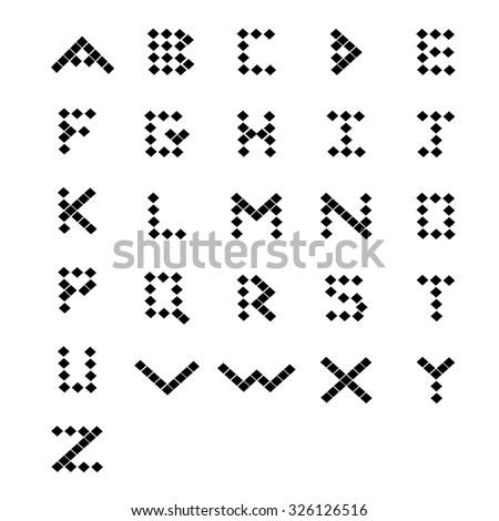 Geometric alphabet. Geometric font. ABC letters. - stock vector