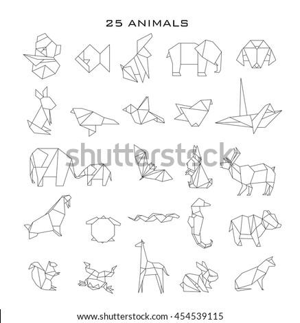 Geometric Animals Vector Stock 454539115