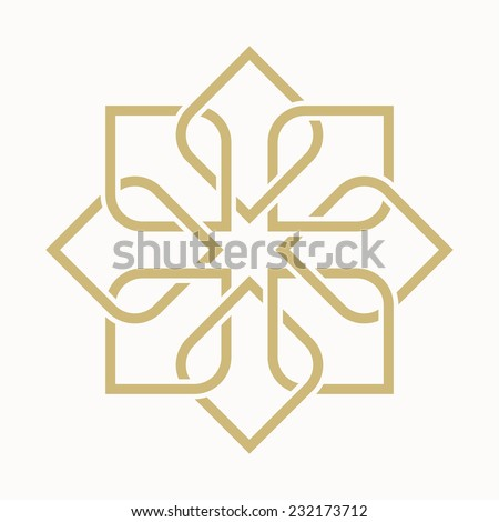 geometric arabic pattern - stock vector