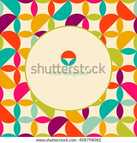 Geometric background. Abstract pattern. Frame for logo, label or greetings. - stock vector