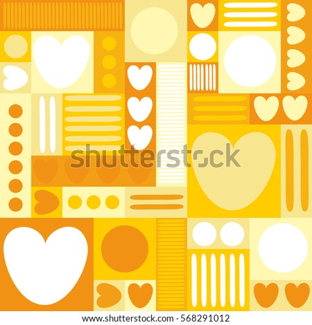 Different Shades Of Yellow quilt heart stock vectors, images & vector art | shutterstock