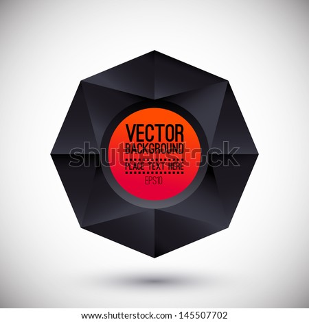 Geometric  background with space for text. Promotion notice. Logo or Notice presentation. Vector illustration - stock vector