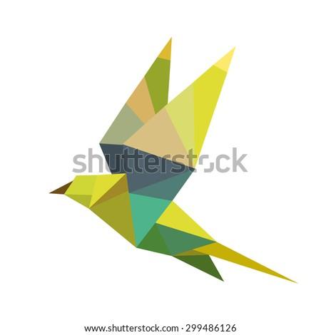 geometric birds - stock vector