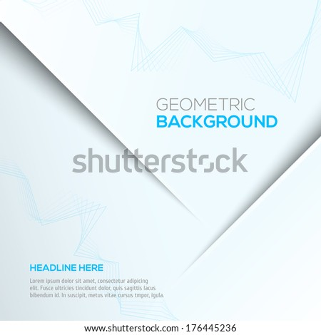 Geometric blue 3D background - stock vector
