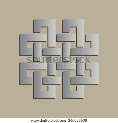 Geometric Celtic Cross Symbol Stock Vector 260028638 Shutterstock