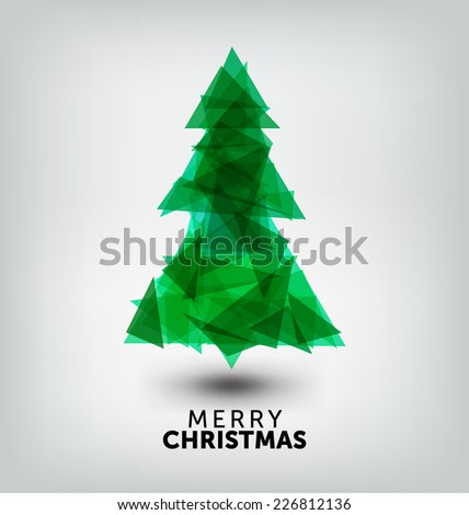 Geometric Christmas Design - Greeting Card Template - stock vector
