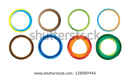 Geometric circle entwined wheels. Business abstract icon. As sign, symbol, logo, web, label, emblem. - stock vector