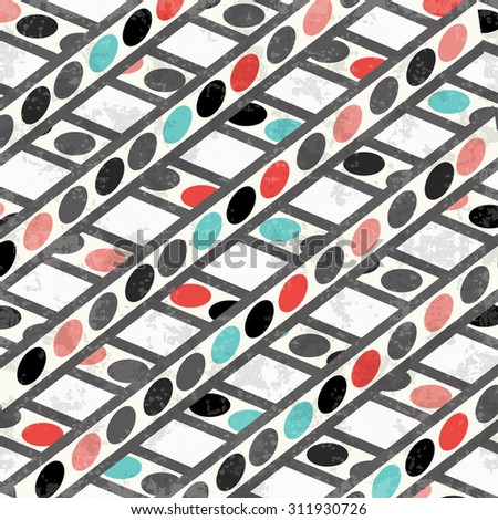 geometric circles and lines background vector illustration grunge effect - stock vector
