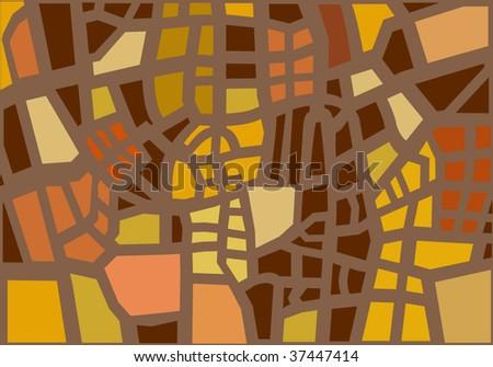 geometric cityplan - stock vector