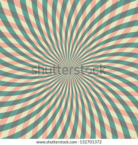 Geometric colored rays. Vintage background. Vector illustration EPS10