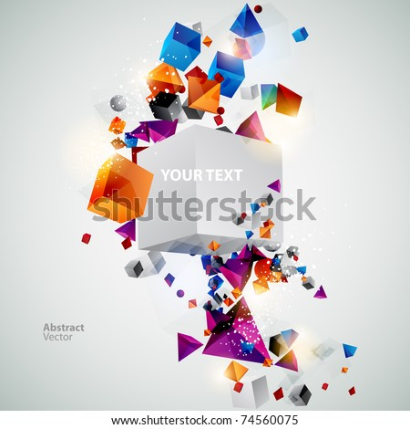 Geometric colorful background - stock vector