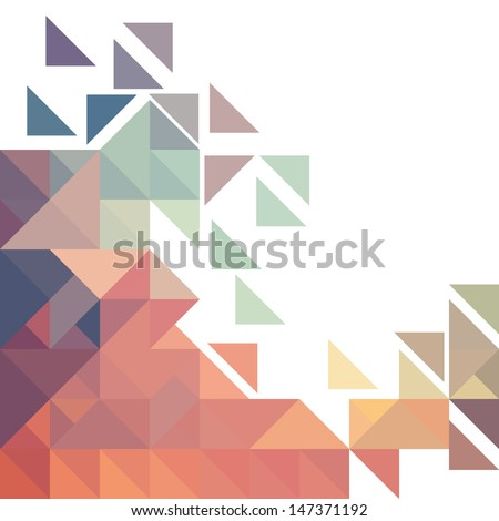 Geometric colorful pattern.Vector background. - stock vector