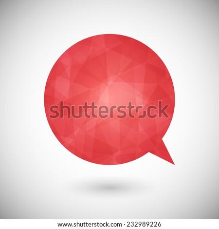 Geometric colorful speech bubble design. Web chat icon - stock vector