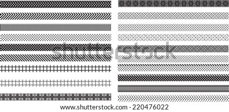 Geometric Decorative  Border Frame Collection in  Black Color.  - stock vector