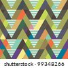 geometric decorative seamless background. striped pattern. - stock vector