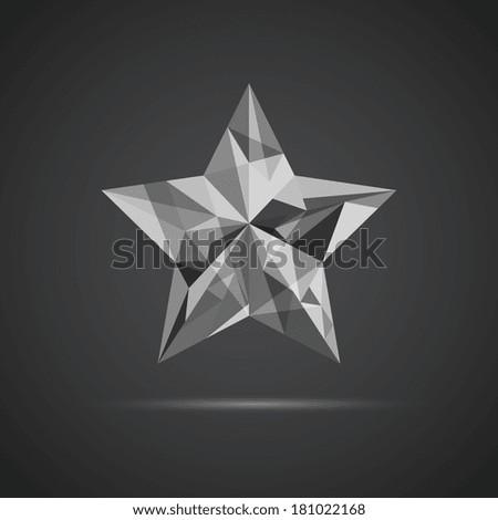 Geometric Diamond Star Stock Vector 181022168