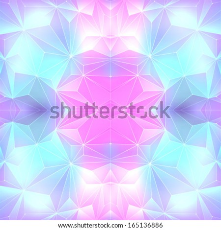 Geometric element on a blue background - stock vector
