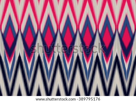 Geometric ethnic ikat pattern seamless design for background or wallpaper. - stock vector