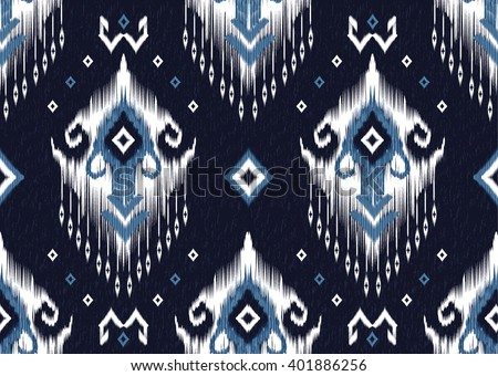 Geometric ethnic ikat pattern seamless design for background,wallpaper,clothing and wrapping.  - stock vector