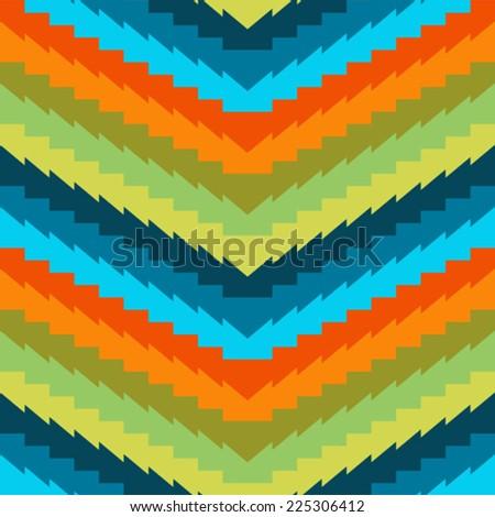 Geometric ethnic pattern - stock vector