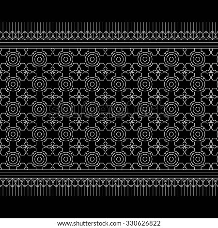 Geometric Ethnic pattern design for background,carpet,wallpaper,clothing,sarong,wrapping,Batik,fabric,Vector illustration.embroidery style.