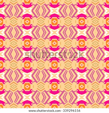 Geometric ethnic pattern design for background or wallpaper. - stock vector