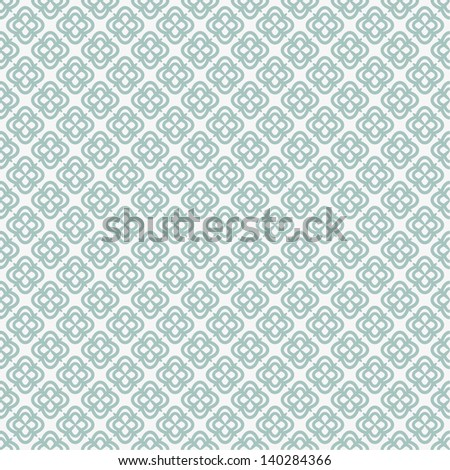Geometric floral pattern. Seamless vector background.White texture. - stock vector