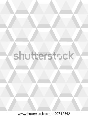 Geometric gray hexagon seamless pattern, vector - stock vector