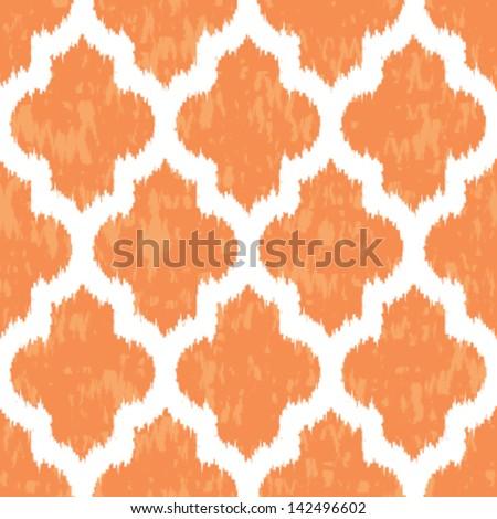 Geometric Ikat Background Pattern - stock vector