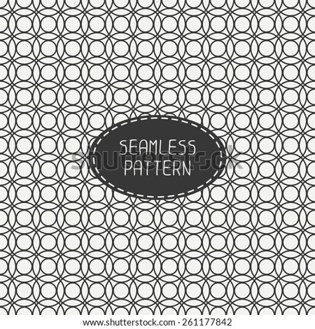 Geometric line seamless pattern with circle, round. Paper for scrapbook. Tiling. Beautiful vector illustration. Background. Stylish graphic texture  for your design. - stock vector
