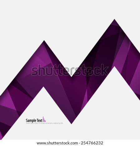 Geometric Lines and Shapes Design Background - stock vector